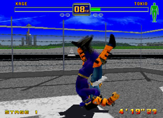 "Some fighters had their moves from the more impressive Virtua Fighter 3, including Kage's ""Impressive in everything but screenshot"" flipping piledriver."