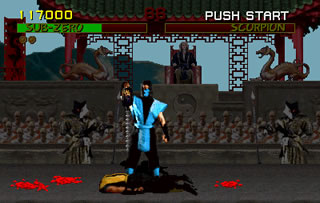 But the fatalities will be what Mortal Kombat is remembered for, including Sub Zero's particluarly brutal Spine Rip