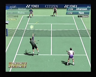 The doubles game or singles game are equally fun