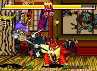 Samurai Showdown was an equal opportunity Hack & Slash game, with women getting chopped just as bad as men.