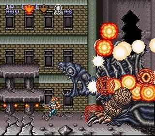 The bosses in this game were huge, and with a weak gun, provided an almost impossible challenge