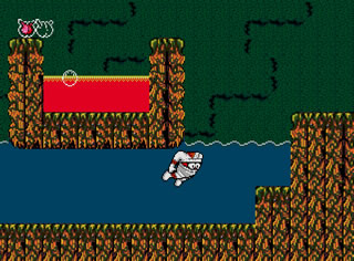 Some levels require you to take to the water, which the graphics do suffer a bit.