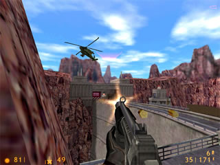 Of course, the main thing was the guns. Bringing down a helicopter with a machine gun was particularly satisfying.