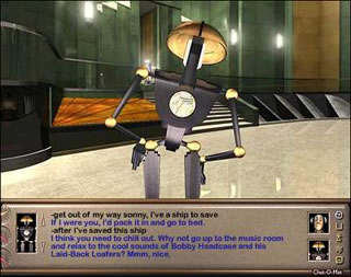Being a Sci-Fi Interactive Fiction. There's tons of robots in the game.....