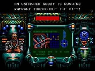 Every story in a retro game is surrounding an outside one dimensional menace, in this case, robots.